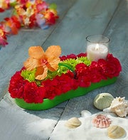 Fresh Flower Flip Flop? Centerpiece