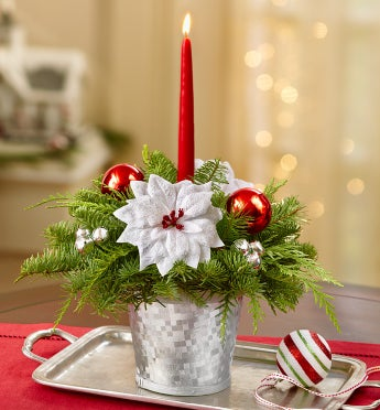 Seasons Greetings Evergreen Centerpiece