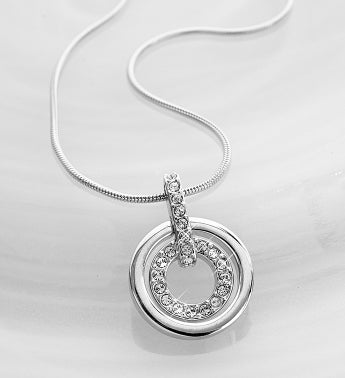SWAROVSKI Crystal Circle Necklace - 1-800-Flowers