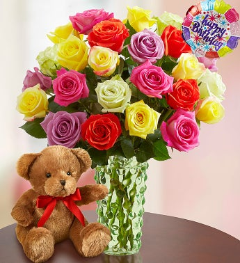 Happy Birthday Roses, Buy 12, Get 12 Free