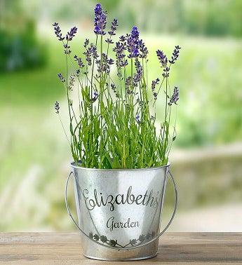 Personalized Lavender Garden Pail - 1-800-Flowers