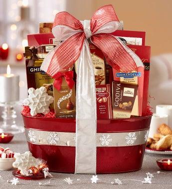 Snowy Memories Gourmet Gift Basket