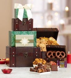 Holiday Treasures Gourmet Gift Tower - Holiday Treasures Trunk Gourmet Gift Tower