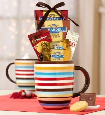 Festive Bistro Mug with Ghirardelli� Cocoa