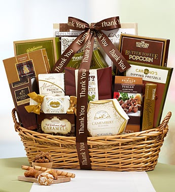 Thank You Grandeur Gourmet Gift Basket