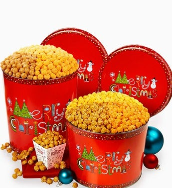 The Popcorn Factory� Merry Christmas Popcorn Tin