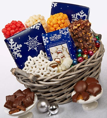 The Popcorn Factory� Snowy Night Basket