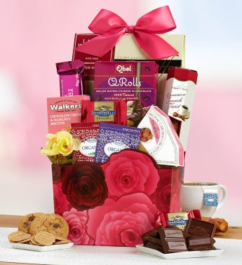 Roses 'N Romance Decadent Sweets Basket