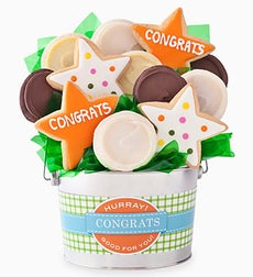 Cheryl's Congratulations Cookie Flower Pot