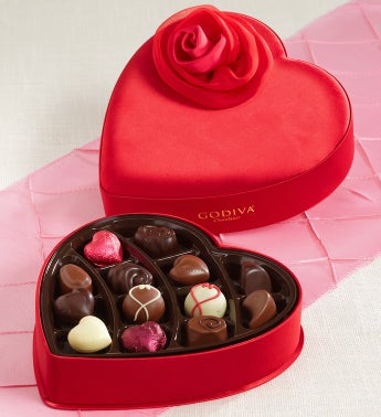 Godiva� Fabric Heart Box