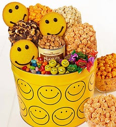 The Popcorn Factory Assorted Smiley Snack Tin