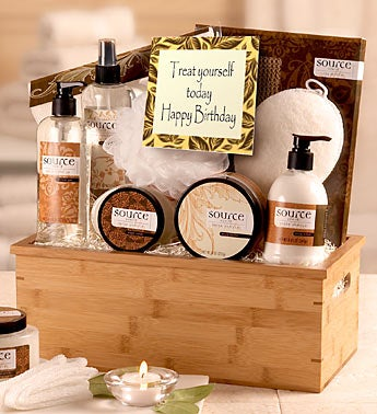 Happy Birthday Relax and Pamper Her Spa Basket