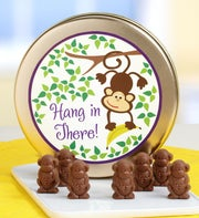 Hang In There! Milk Chocolate Monkeys Tin