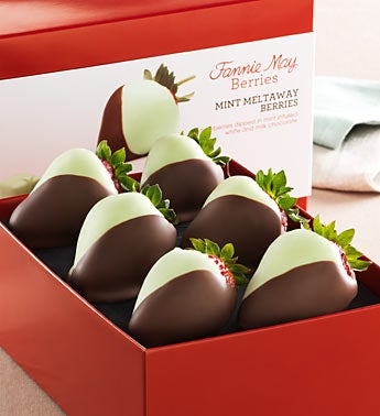 Fannie May Mint Meltaway Chocolate Strawberries