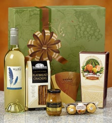 Buy holiday wine gift baskets - Vineyard Select White Wine Gift Box