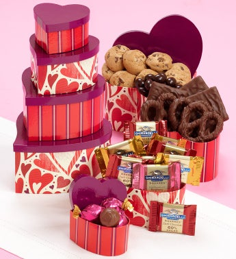 Heart's Afire Chocolate Tower