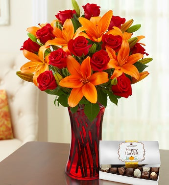 Autumn Rose & Lily Bouquet