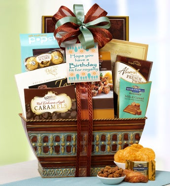 Majestic Grandeur Happy Birthday Basket