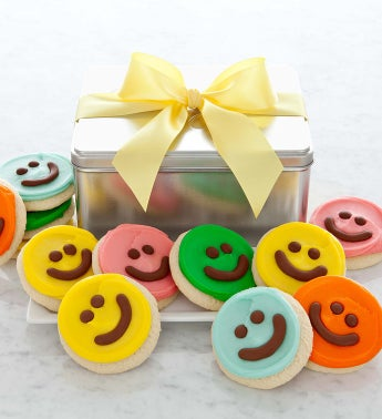 Happy Face Cutout Tin