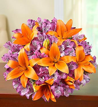 Brilliant Autumn Lily Medley - Bouquet Only