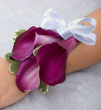 Purple Elegance Corsage - Mini Calla Lily - 1-800-Flowers