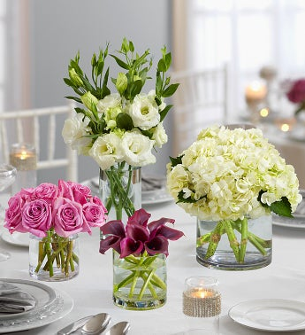 Purple Elegance Centerpiece Package - Four - 1-800-Flowers