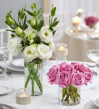 Purple Elegance Centerpiece Package - 1-800-Flowers