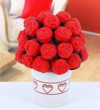 Red Innocence Cake Bouquet
