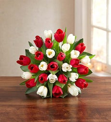 Jolly Holiday Tulips, 30 Stems - Bouquet Only