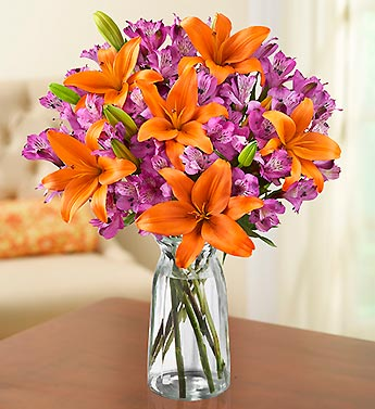 Autumn Lily & Peruvian Lily Bouquet