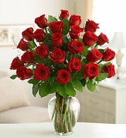 Twenty-Four Long stem Red Roses