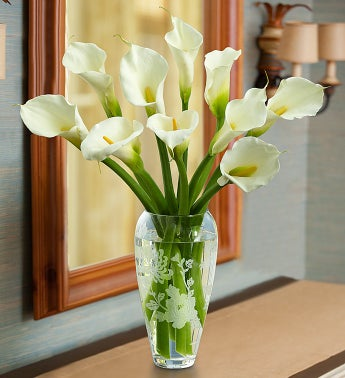 Marchesa by Lenox� Vase with Calla Lilies