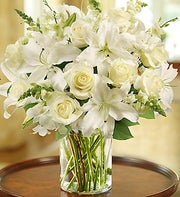 International England - Classic All White Arrangement for Sympathy