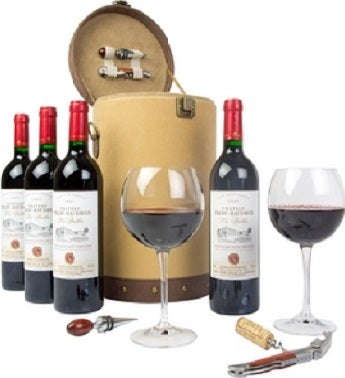Saint-Emilion Velvet Wine Carrier