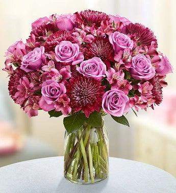 Lavender Bouquet for Sympathy - Double Bouquet with Clear...