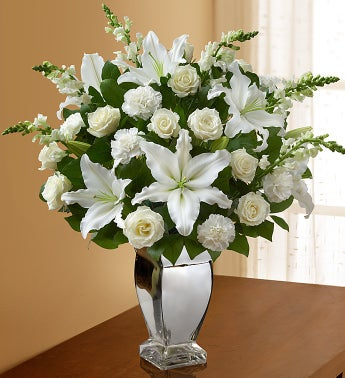 The meanings of white roses from roseforlove the meaning of shimmering white roses is not very hard to decipher if you go by their appearance the color white has always been synonymous with purity and mightylinksfo