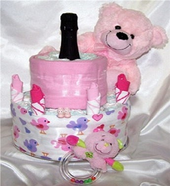 Two Tier & Bubbles in Pink Gift Hamper
