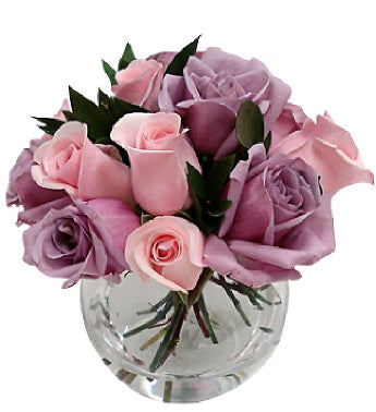 Lilac and Pink Roses