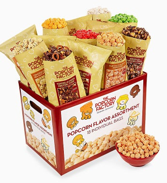 The Popcorn Factory� 18 Pack Popcorn Sampler