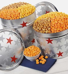 The Popcorn Factory All Star 3-Flavor Popcorn - The Popcorn Factory Patriotic 3-Way Tin 3.5G