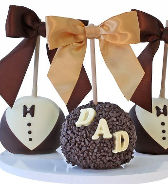 Father's Day Caramel Chocolate Dipped Apples - Father's Day Caramel Dipped Apples