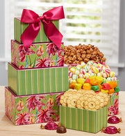 Mom's Favorite Flowering Fields Sweets Tower
