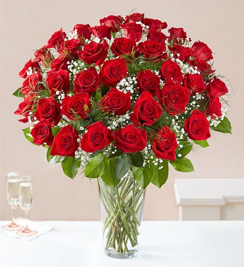 Ultimate Elegance Premium Long Stem Red Roses - Four Dozen Red Roses