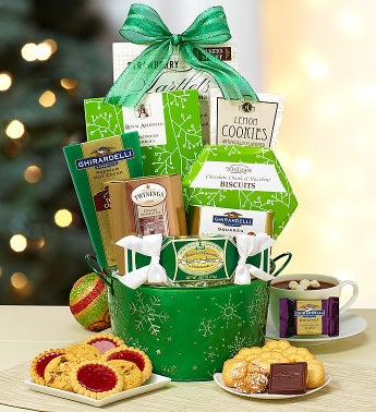 Festive Snowflakes Gift Basket