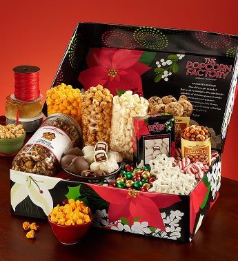 Popcorn Winter Floral Snackers Choice Box