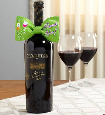 Thank You Tie & Stonehedge Reserve Merlot Wine
