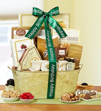Birthday Sentiments Gift Basket