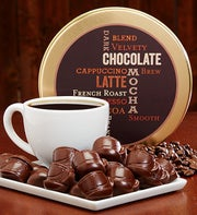 Dark Chocolate Mocha Coffee Cups in Tin