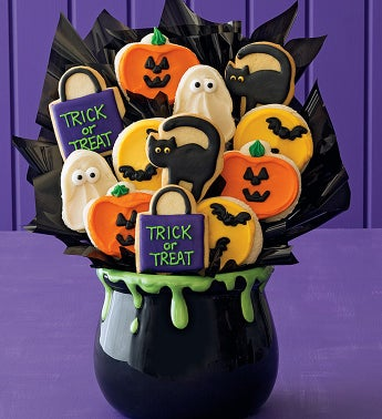 Cheryl's Ceramic Halloween Cookie Flower Pot