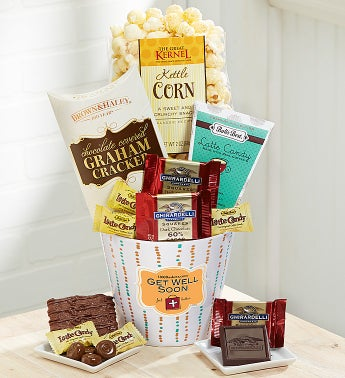 Get Well Sweet Greetings Basket